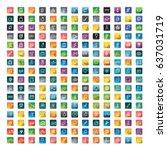 user interface vector icons... | Shutterstock .eps vector #637031719