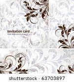 invitation complete card set... | Shutterstock .eps vector #63703897
