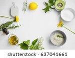 organic spa.skincare natural... | Shutterstock . vector #637041661