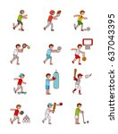 assorted sports image  | Shutterstock .eps vector #637043395