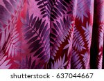 the purple curtain pattern | Shutterstock . vector #637044667