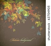 autumn background   falling... | Shutterstock .eps vector #63704905
