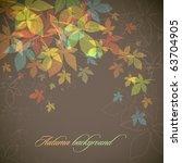 autumn background   falling... | Shutterstock .eps vector #63704905