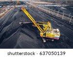 coal mining at an open pit | Shutterstock . vector #637050139