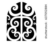 maori polynesian tattoo | Shutterstock .eps vector #637052884
