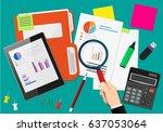 financial audit concept.... | Shutterstock . vector #637053064