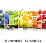 photo of rainbow colorful mix... | Shutterstock . vector #637058491
