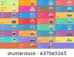 city of indonesian conceptual... | Shutterstock .eps vector #637065265