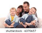 mother father and two sons on... | Shutterstock . vector #6370657