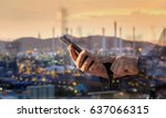 double exposure of businessman...   Shutterstock . vector #637066315