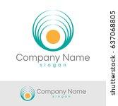 environment logo | Shutterstock .eps vector #637068805