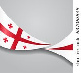 georgian flag wavy abstract... | Shutterstock .eps vector #637068949