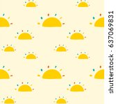 seamless pattern with suns | Shutterstock .eps vector #637069831