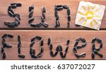 sunflower word from sunflower... | Shutterstock . vector #637072027