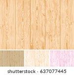set of vector wooden... | Shutterstock .eps vector #637077445