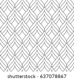 Stock vector vector seamless pattern modern stylish texture monochrome geometric pattern mesh with thin 637078867