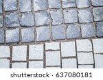 sidewalk made of different...   Shutterstock . vector #637080181