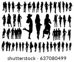big set of woman and man... | Shutterstock .eps vector #637080499