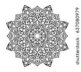 mandala. ethnic decorative... | Shutterstock .eps vector #637080979