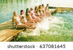 Group Of Happy Young Woman Fee...