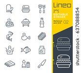 lineo editable stroke  ... | Shutterstock .eps vector #637088854