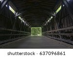 covered bridge   forbidden... | Shutterstock . vector #637096861
