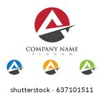 a letter logo business template ... | Shutterstock .eps vector #637101511