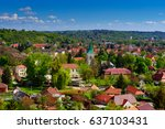 view to the miskolc city from... | Shutterstock . vector #637103431