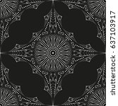 black and white ethnic... | Shutterstock . vector #637103917