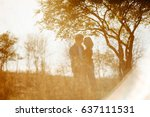 happy smiling lovely couple.... | Shutterstock . vector #637111531