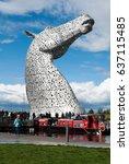 falkirk  scotland   august 22 ... | Shutterstock . vector #637115485