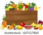 healthy freshly harvested... | Shutterstock . vector #637117864