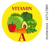 healthy vegetables and... | Shutterstock . vector #637117885
