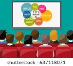 businessmen sitting on chair... | Shutterstock . vector #637118071