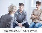 young marriage in conflict in a ... | Shutterstock . vector #637119481