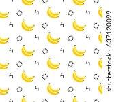 banana geometric seamless... | Shutterstock .eps vector #637120099