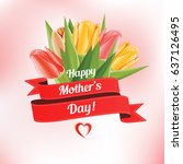 mother's day greeting card with ...   Shutterstock .eps vector #637126495