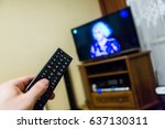 watching television   Shutterstock . vector #637130311