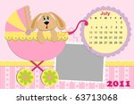 baby's monthly calendar for... | Shutterstock .eps vector #63713068