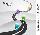 road map infographic with... | Shutterstock .eps vector #637131055