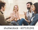 diverse people playing game...   Shutterstock . vector #637131241
