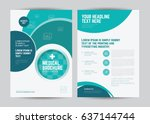 medical brochure design... | Shutterstock .eps vector #637144744