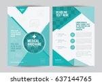 a4 medical flyer brochure... | Shutterstock .eps vector #637144765