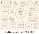 a set of vector illustrations... | Shutterstock .eps vector #637145047