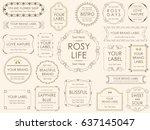 a set of vector illustrations... | Shutterstock .eps vector #637145047