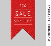sale tag  | Shutterstock .eps vector #637145629