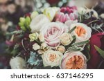 Roses In A Brides Flower Bouquet