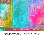 original hand painted by oil... | Shutterstock . vector #637152919