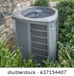 air conditioning and heating... | Shutterstock . vector #637154407