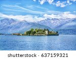 isola bella island on the... | Shutterstock . vector #637159321